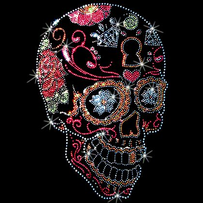 Wild Side Heat Transfers | Day of The Dead Sugar Skull (Stones)