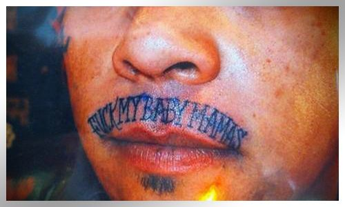 116 best really bad tattoos images on pinterest for Tattooed pussy lips