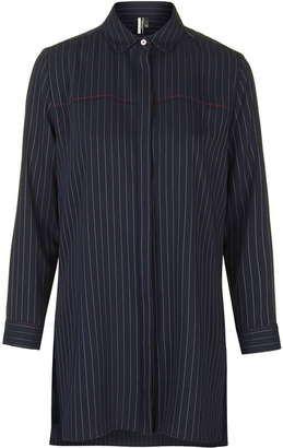 Oversized pinstripe shirt - Shop for women's Shirt - NAVY BLUE Shirt