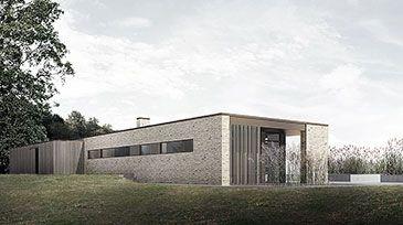 BAKS ARKITEKTER -  Hovaldt House, Denmark. Nordic architecture, house, design, scandinavian, texture, brick, wood, minimalistic, danish, nature, living, garage, facade