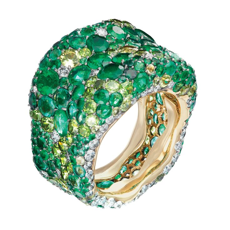 Fabergé Emotion Green Ring #Fabergé #Emotion #Ring
