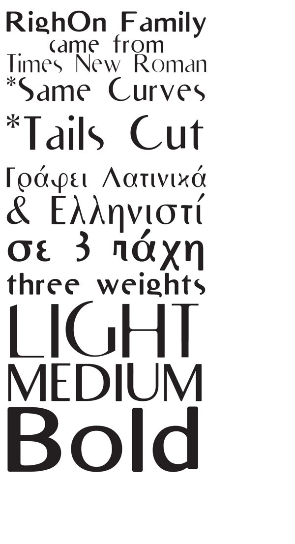 RighOn / Free Font by Petros Vasiadis, via Behance