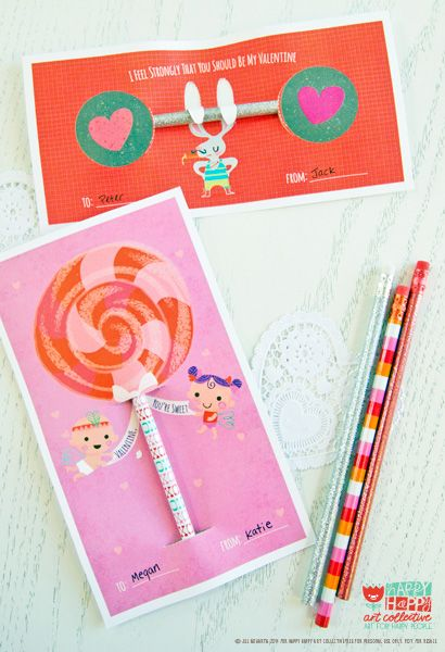 valentines printables from happy happy art collective