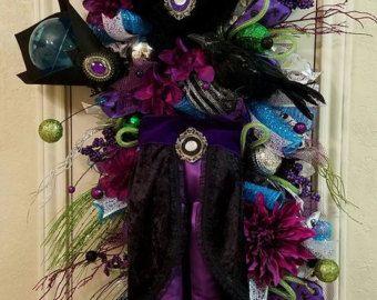 Halloween guirnalda de malla fantasma guirnalda por BaBamWreaths
