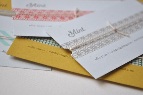 Mint business cards.
