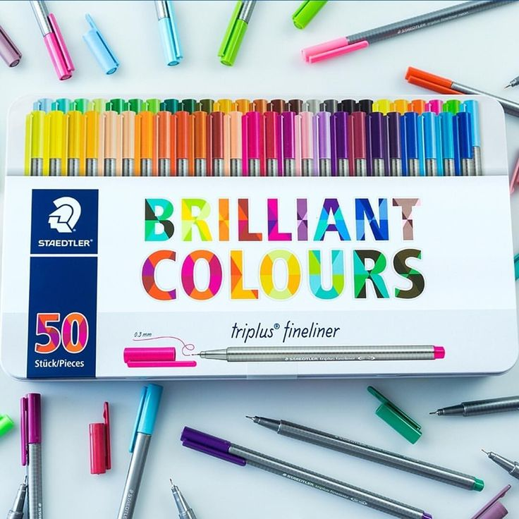 "4,048 Likes, 157 Comments - STAEDTLER (@staedtlermars) on Instagram: ""Our pride and joy ☺️ Our new metal box of 50 triplus fineliners in brilliant colours! A dream come…"""