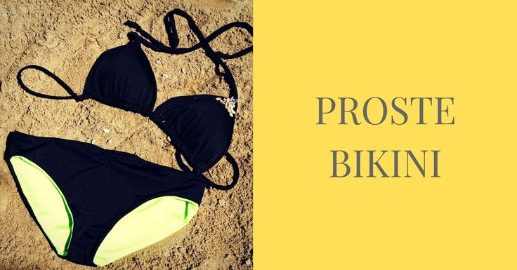 PROSTE BIKINI/Simple bikini with free sewing patterns   #szyjemyzdresowkapl #diy #inspiracje #szyjemy #sewing #inspirations