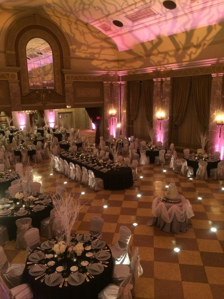 We Love the Unique Tree Centerpiece and Ceiling Details. Additionally, the  Colors Silver,