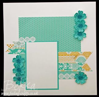 Flower Shop and Eastern Elegance Scrapbook Page by Bekka Prideaux for the Feeling Crafty Scrapbook Club