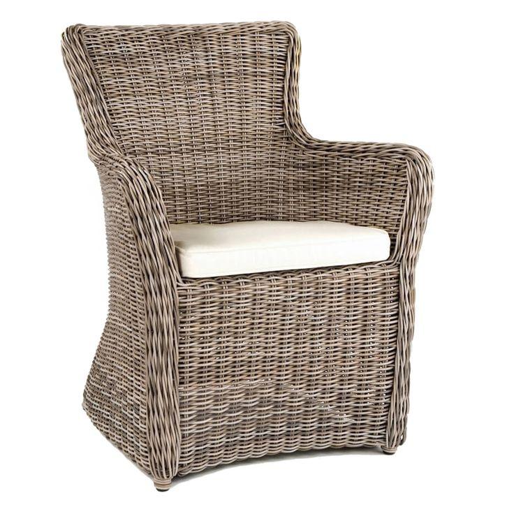 Kingsley Bate Sag Harbor Wicker Dining Arm Chair
