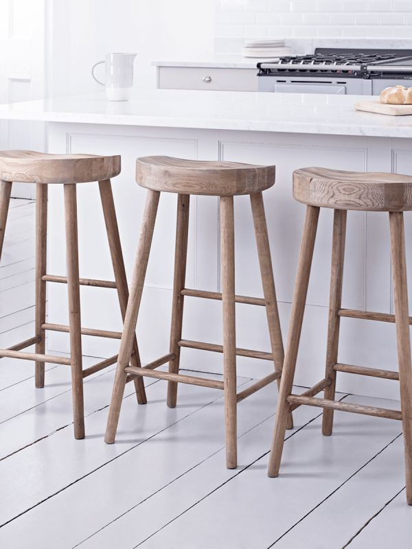 Weathered Oak Bar Stool In 2019 Oak Bar Stools Wooden