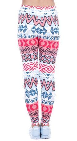 Fantasie Legging Figuur Roze achterkant
