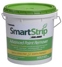 Smart Strip™ by Peel Away® removes 15 LAYERS OF PAINT IN ONE SINGLE APPLICATION. It is a unique paint remover that is 100% biodegradable, safe for the user, the surfaces to be stripped and the environment. Smart Strip™ by Peel Away® is very effective for removing multiple layers of paint, industrial coatings and architectural finishes from virtually all interior and exterior surfaces. Works wonders on painted brick, all kinds of wood products, metals, stone, plaster, concrete, fiberglass…