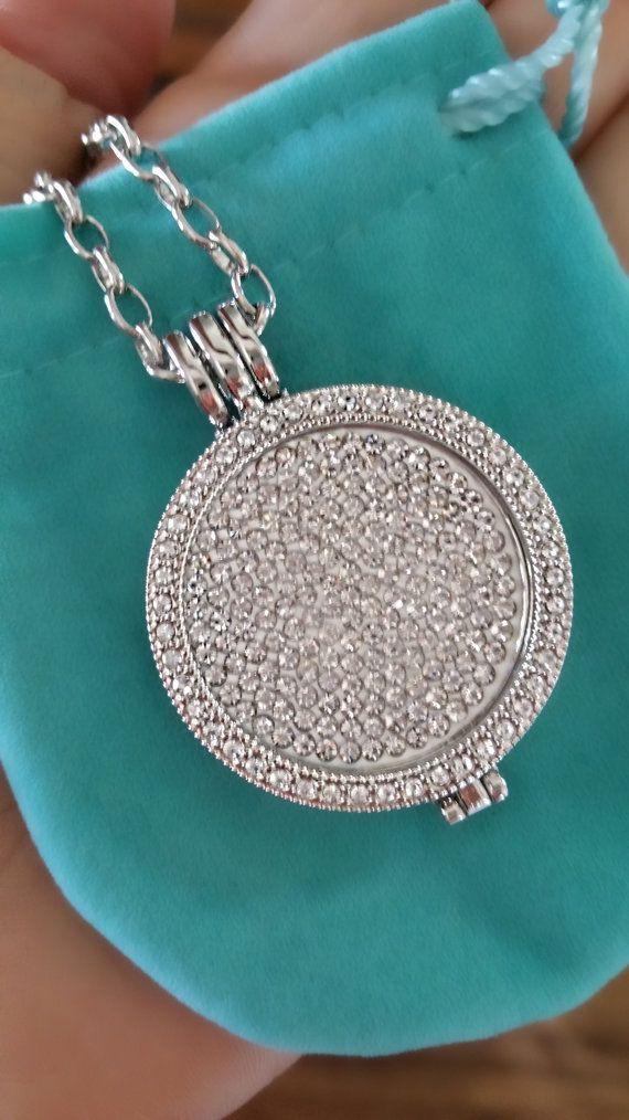 Crystal interchangeable coin floating bridal by LenaMayJewelley