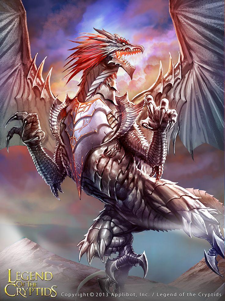 dragon con armadura