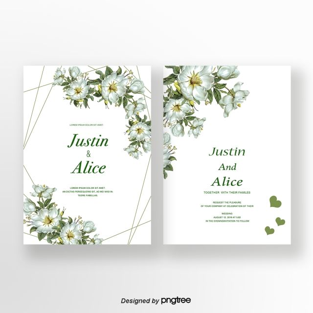 Wedding Invitation Floral Invite Card Design With Creamy White Garden Floral Wedding Invitation Card Wedding Invitation Card Design Green Wedding Invitations