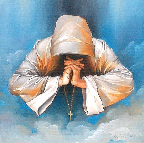 """""""Молящийся среди облаков"""", Andrius Kovelinas"""