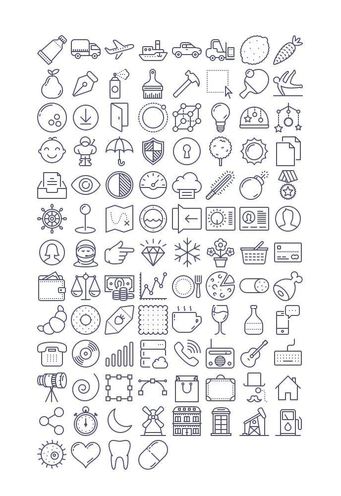 Unigrid Icons Free (337 KB) | tutorialstorage.com