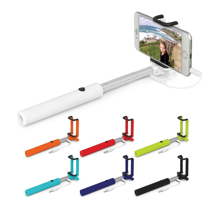 Telescopic selfie stick which will securely hold almost any smart phone. It extends to 517mm and retracts to a compact 145mm when not in use. Alto has a cable which plugs into the phone audio jack and supports both Android and iOS allowing photos to be taken by pressing the conveniently located button on the handle.