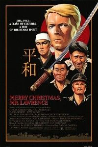 Merry Christmas Mr Lawrence The story takes place on a film set in  Java at a Japanese POW camp in 1942. It is about a complex relationship between a rebellious prisoner, David Bowie and camp commandant Ryuichi Sakomoto who is obsessed by Bowie's attitude.