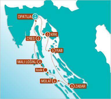 Balkan Escape | Island Wonder Cruise | Destination Map