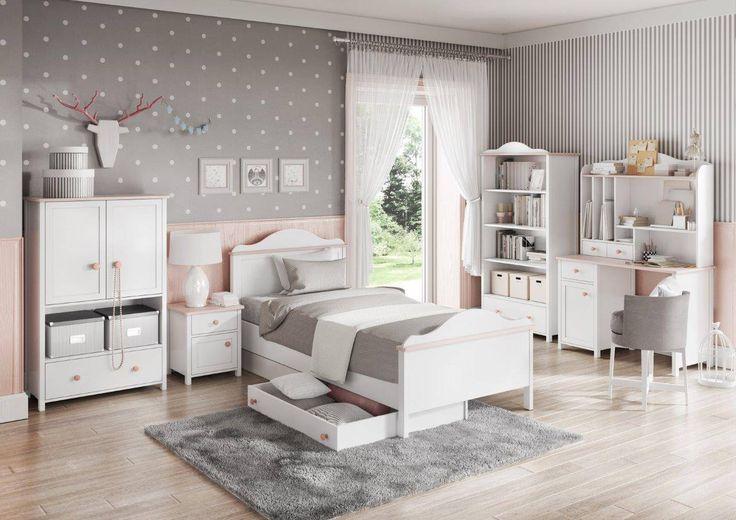 Białe meble dziecięce z kolekcji LUNA - to piękne meble dziecięce, w których oprócz pojemnej szafy i wygodnego łóżka znajdziecie funkcjonalną komodę, regał oraz biurko z nadstawką. Uzupełnieniem będzie stylowa toaletka z lustrem. Meble LUNA to romantyczna i subtelna kolekcja dla małych dziewczynek i nastolatek.