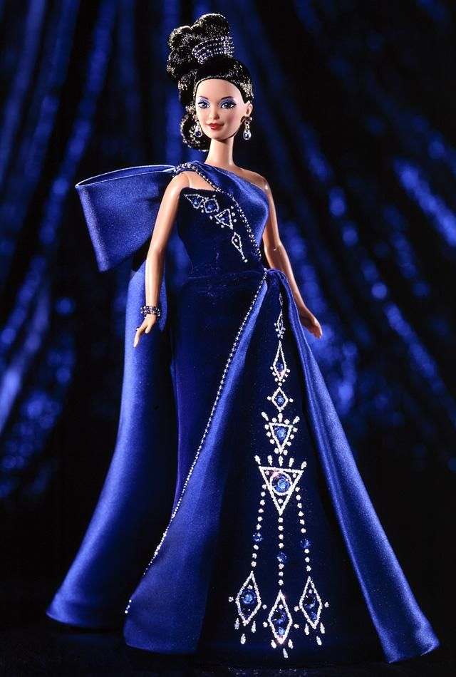 Sapphire Splendor™ Barbie® Doll - I own this doll.  Love Bob Mackie's Barbie designs.  They are some of my all time favorite Barbies.