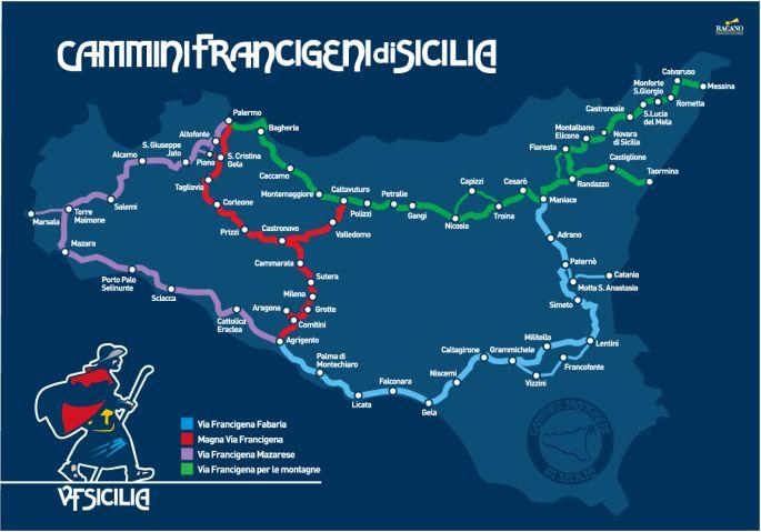 Francigena routes in Sicily