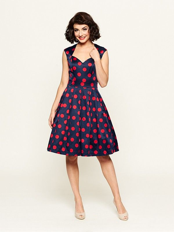 Review Australia || Lady Bug Spot Dress $289.99 Colour: Navy/red