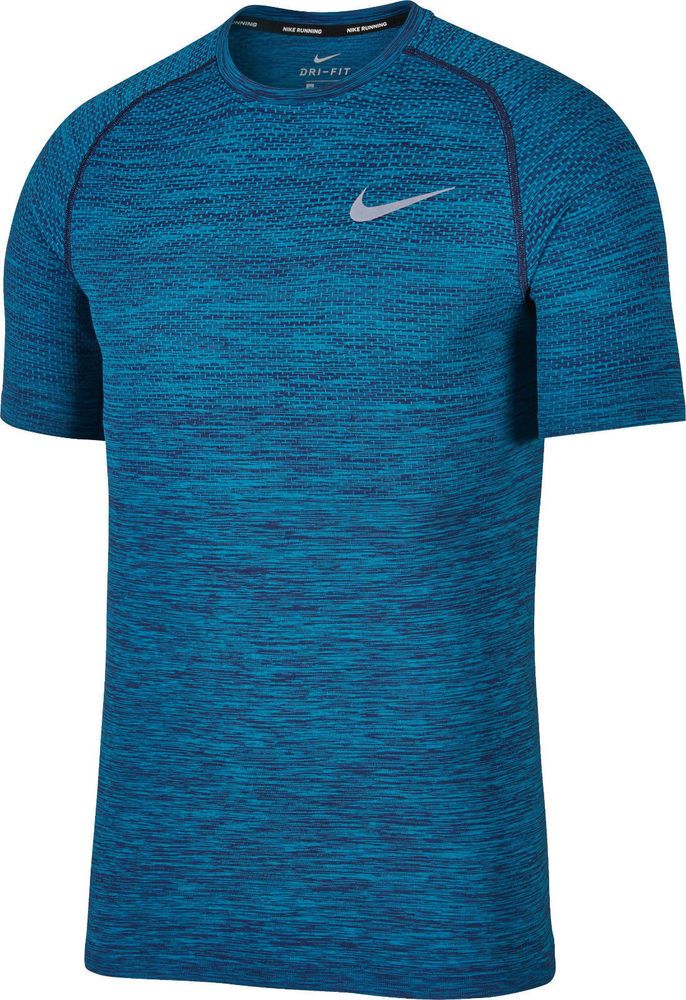 eb8f4eca Nike Dri-Fit Knit SS Men's Running Shirt NEW 833562 433 Blue sz M NEW $80 # Nike #ShirtsTops