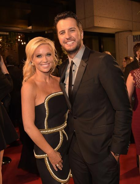 Caroline Boyer and Luke Bryan arrive for the BMI Country Awards in Nashville on Nov. 5, 2014.