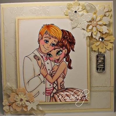 "Redonkadoodles.com - ""Wedding Couple"" Digital Stamp - Handmade Card Design By: justwordz.ca"