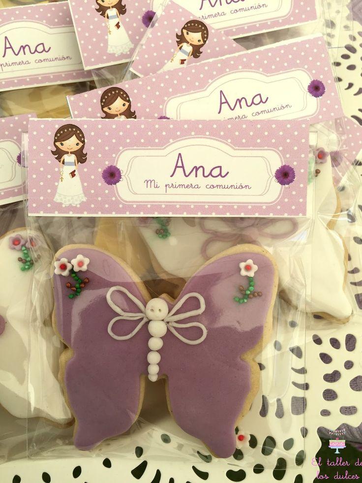 El pasado sábado Ana celebró su primera comunión en San Juan de Alicante. Hace un par de años su mamá me encargó galletas para la comunión ...