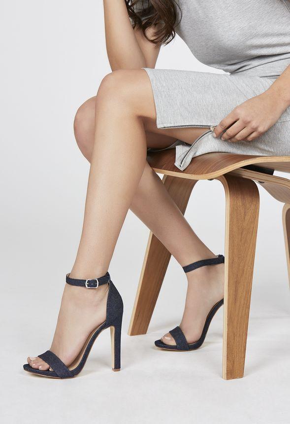 Midi Dress With Side Zip Kleidung in Heather Grey - günstig kaufen bei JustFab