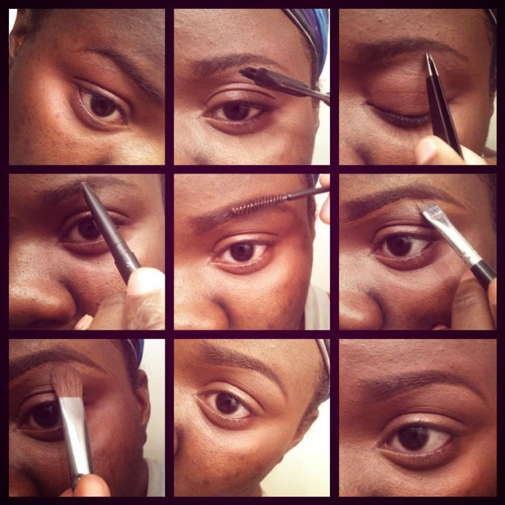 Eye Brows For African American Women  Dark Brown  Black -5655