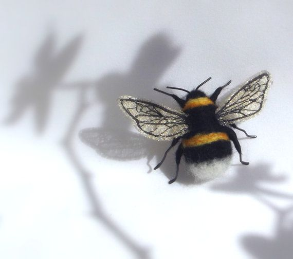 mixed media Bumble bee by PhillipaEngland on Etsy, $35.00