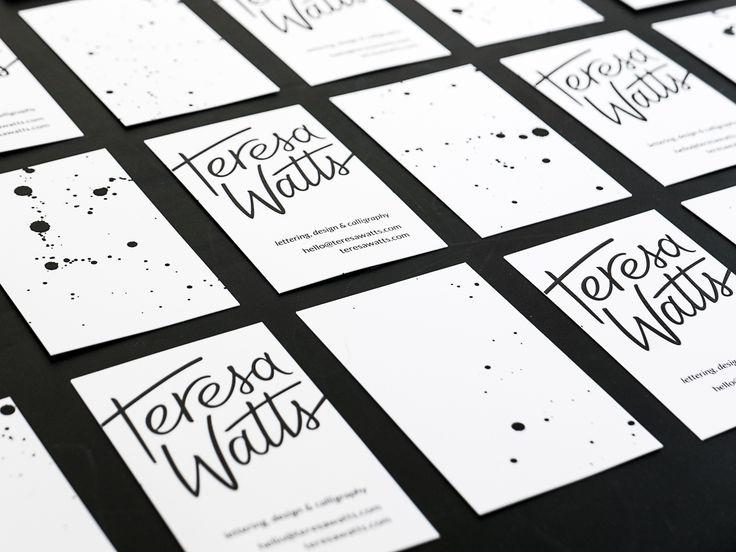 Teresa Watts business card design and logo design