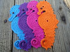 Crochet these enchanting Seahorse coasters for your tables with my complete and easy to follow instructions! Finished coaster measures approximately 10 1/2 by 4 1/4 inches at its widest points. Pattern comes with complete assembly instructions including photos to help you along.