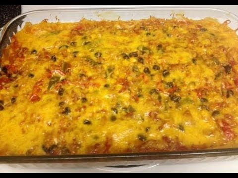 New Recipe! Cheesy Mexican Rice Casserole - WW 5 Points Plus Huge Slice!