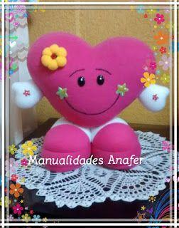 5b7dd2a95 Manualidades Anafer: Corazón para regalar Cojines De Corazon, Cajas Corazon,  Corazones Manualidades,
