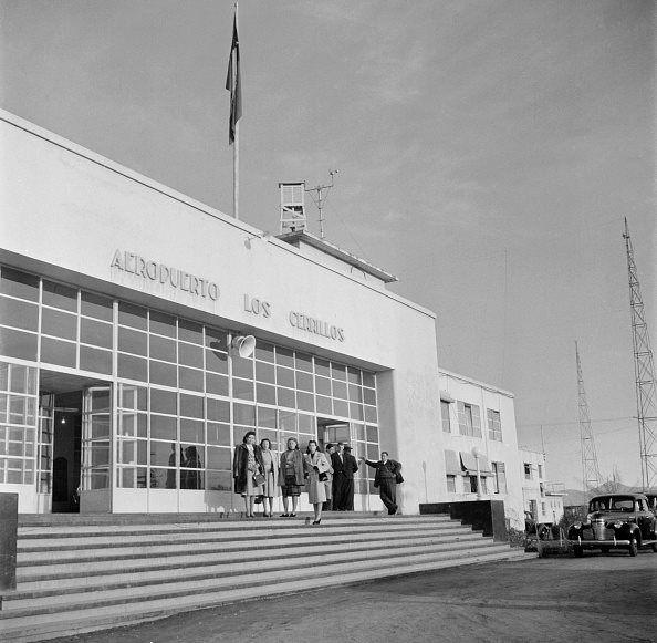 Aeropuerto Los Cerrillos de Santiago, año 1947.