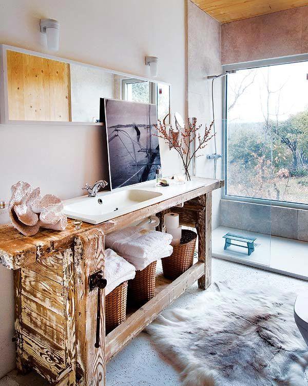 Wooden House in Spain, design, décor, interior, Spain, Madrid, wooden, house, bathroom