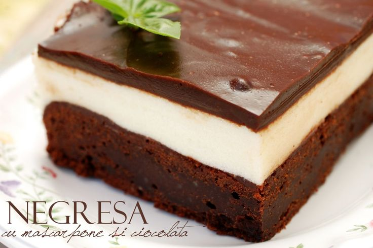 Chocolate mascarpone brownies (Negresa cu mascarpone si ciocolata)