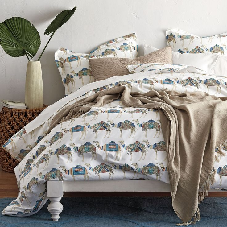 Camel Caravan Percale Duvet Cover | The Company Store