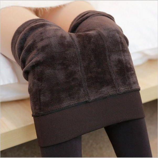 2016 Autunno Inverno Modelli Esplosione della Moda Più Velluto Spessore Caldo Perfettamente Integrato Invertito Leggings Cashmere Pantaloni Caldi