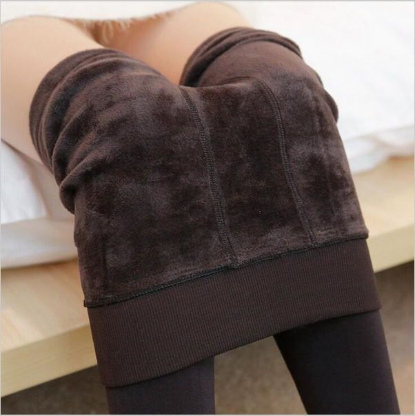 2016 Autumn Winter Fashion Explosion Models Plus Thick Velvet Warm Seamlessly Integrated Inverted Cashmere Leggings Warm Pants [Affiliate]