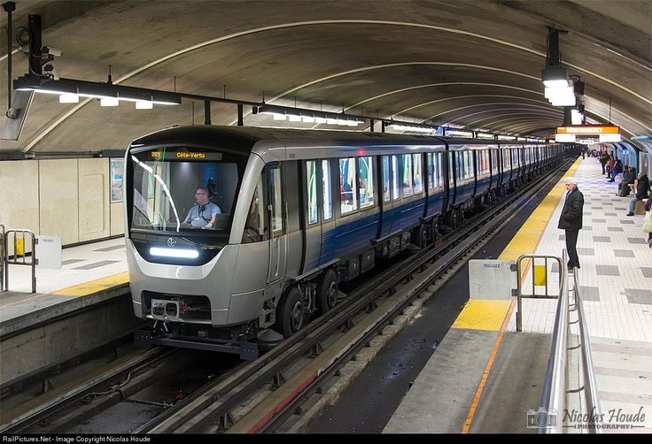 The MPM-10 (Montréal Pneumatic Material 2010), also known as the Azur, is currently under production by Bombardier Transportation for the Montreal Metro. A test train was delivered in 2014 and they were originally expected to fully replace the aging MR-63 trains by 2018. The first MPM-10 train entered into service on Line 2 (Orange Line) on February 7, 2016.