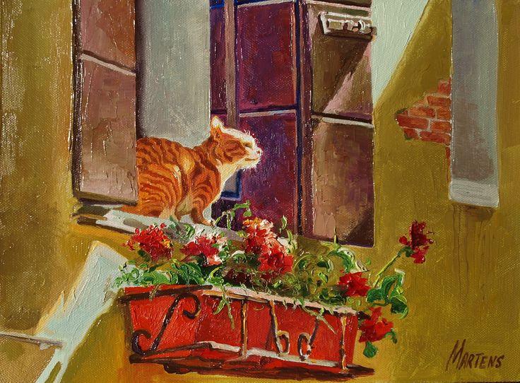 """Купить картину """"Кошка в окошке"""" в интернет-магазине Gallereo"""