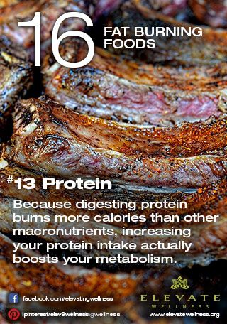 #13 Protein  Because digesting protein burns more calories than other macronutrients, increasing your protein intake actually boosts your metabolism.