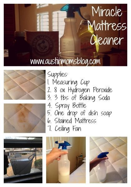 This WORKS, I used it and my mattress looks brand new! We don't have ceiling fans I used a small fan and say it on the mattress to air dry! It even took the smell out! How to Clean Pee out of a Mattress